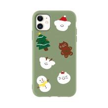 Christmas Tree & Snowman Print iPhone Case