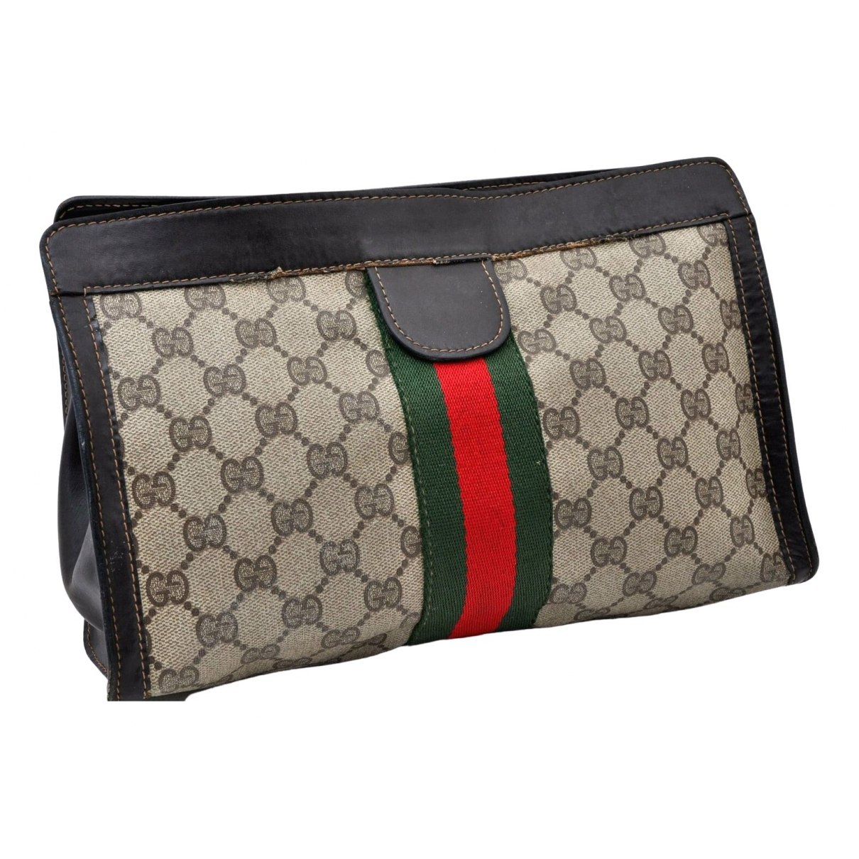 Gucci \N Clutch in  Braun Synthetik