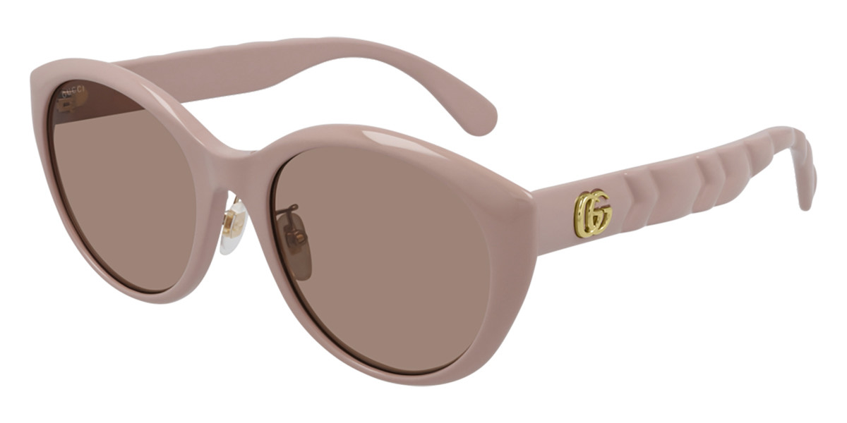 Gucci GG0814SK Asian Fit 004 Women's Sunglasses Pink Size 56 - Free RX Lenses