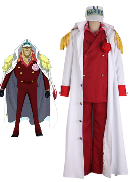 Milanoo Halloween One Piece Sakazuki Halloween Cosplay Disfraz One Piece Marines Cosplay