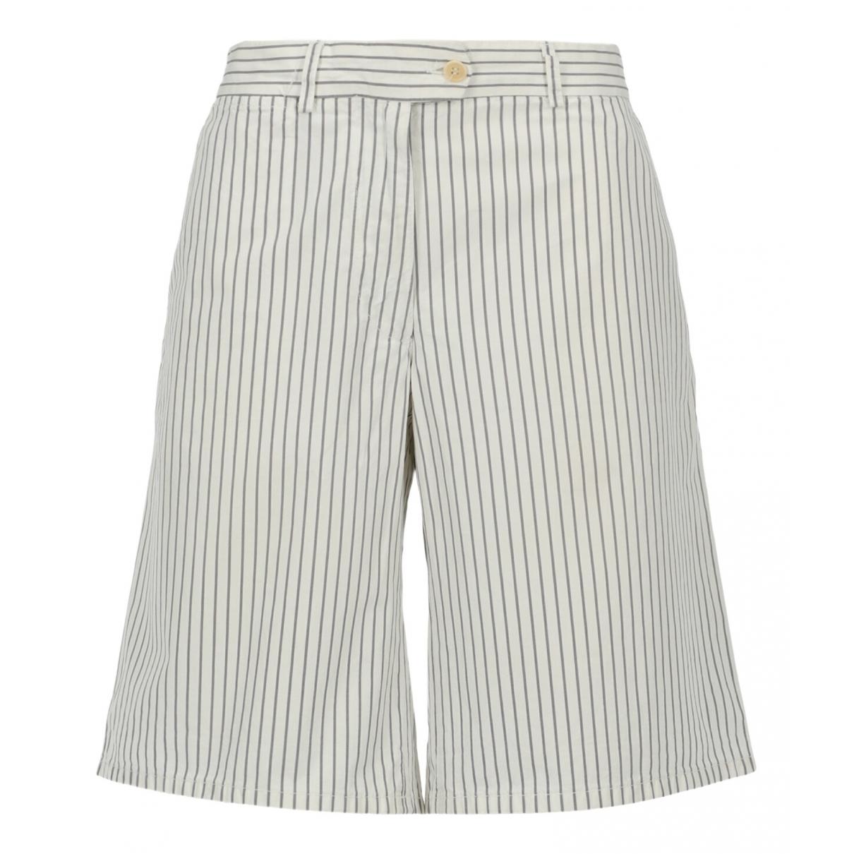 Pantalon en Algodon Gris Aspesi