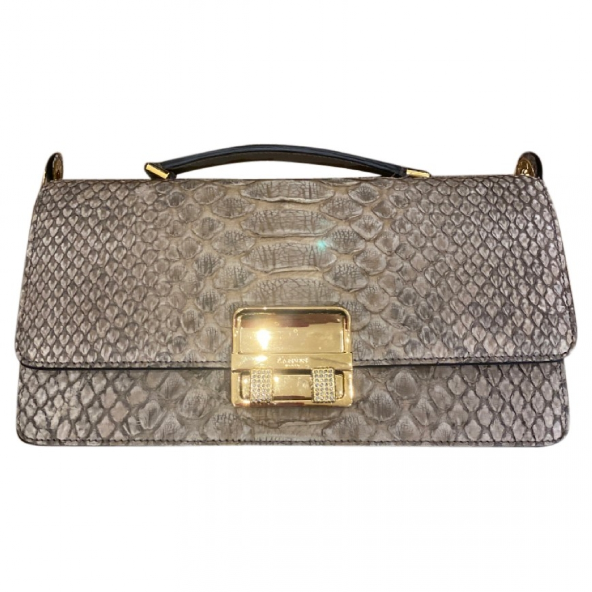 Lanvin \N Beige Python handbag for Women \N