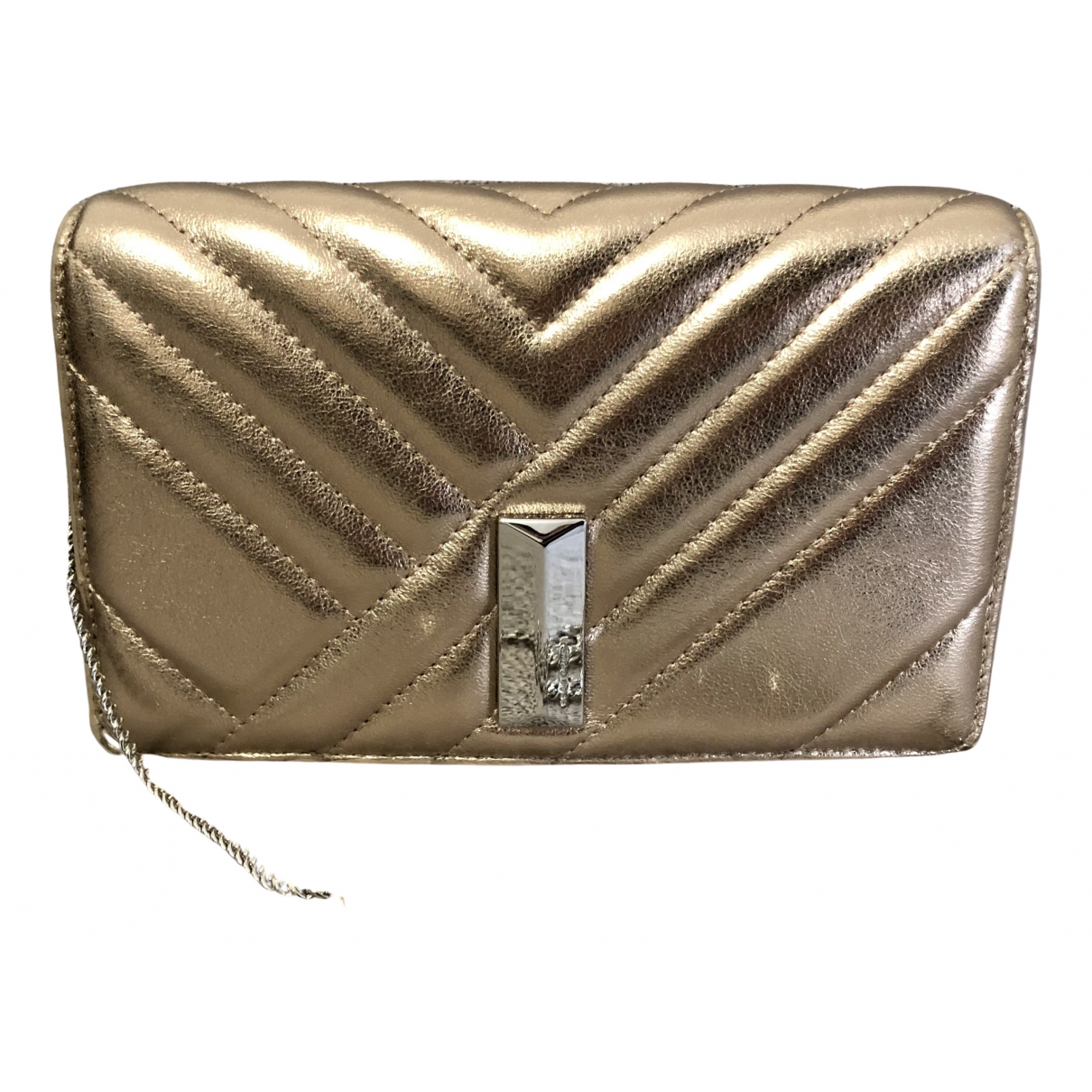 Hugo Boss \N Clutch in  Gold Leder