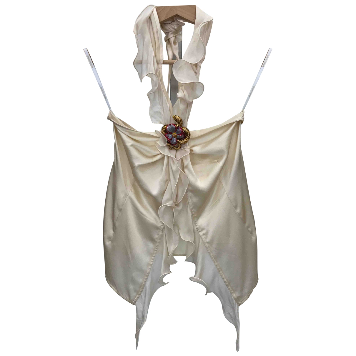 Roberto Cavalli \N Beige Silk  top for Women 40 IT