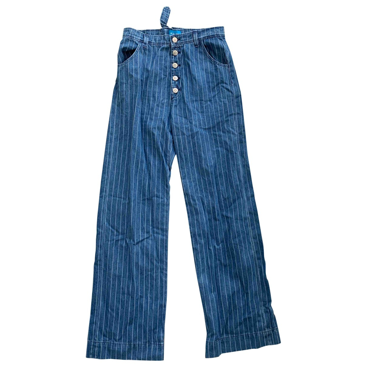 Mih Jeans \N Blue Cotton Trousers for Women 8 UK