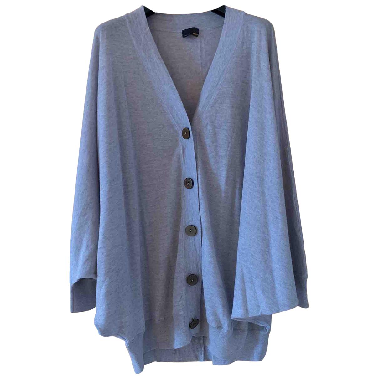 Fendi - Pull   pour femme en laine - gris