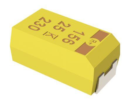 KEMET Tantalum Capacitor 100μF 6.3V dc MnO2 Solid ±10% Tolerance , T495 (10)