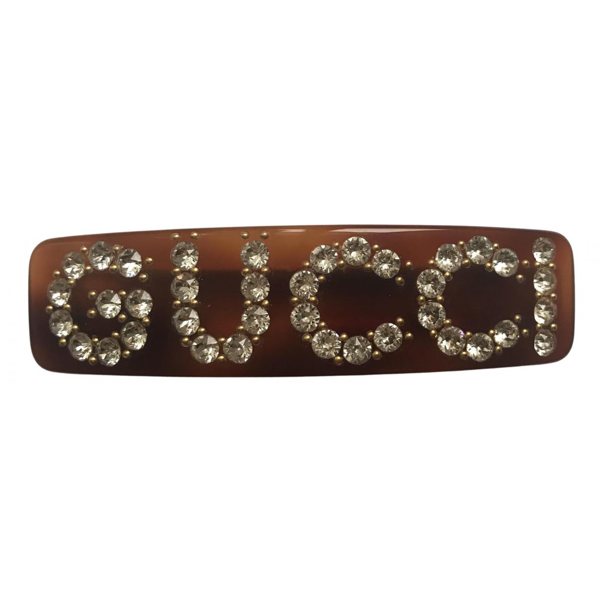 Gucci \N Haarschmuck in  Braun Kunststoff