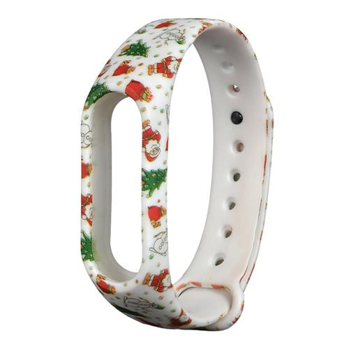 Replacment Band Flowered Pattern Christmas Santa for Xiaomi Smart Band 2 - Colourful