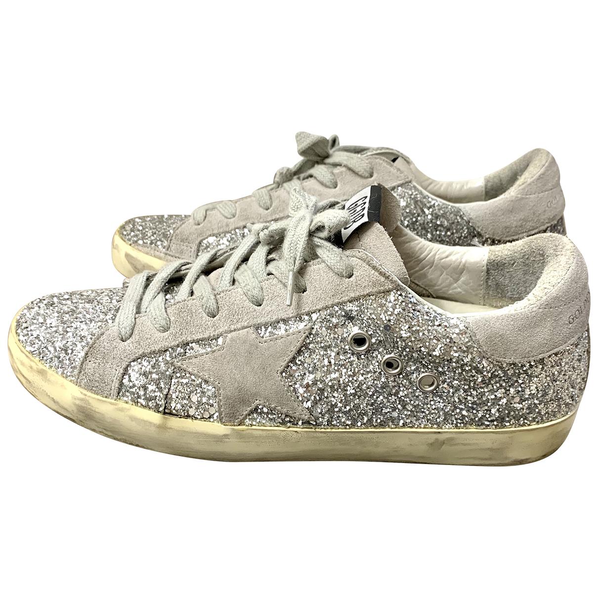 Golden Goose - Baskets Superstar pour femme en a paillettes - gris