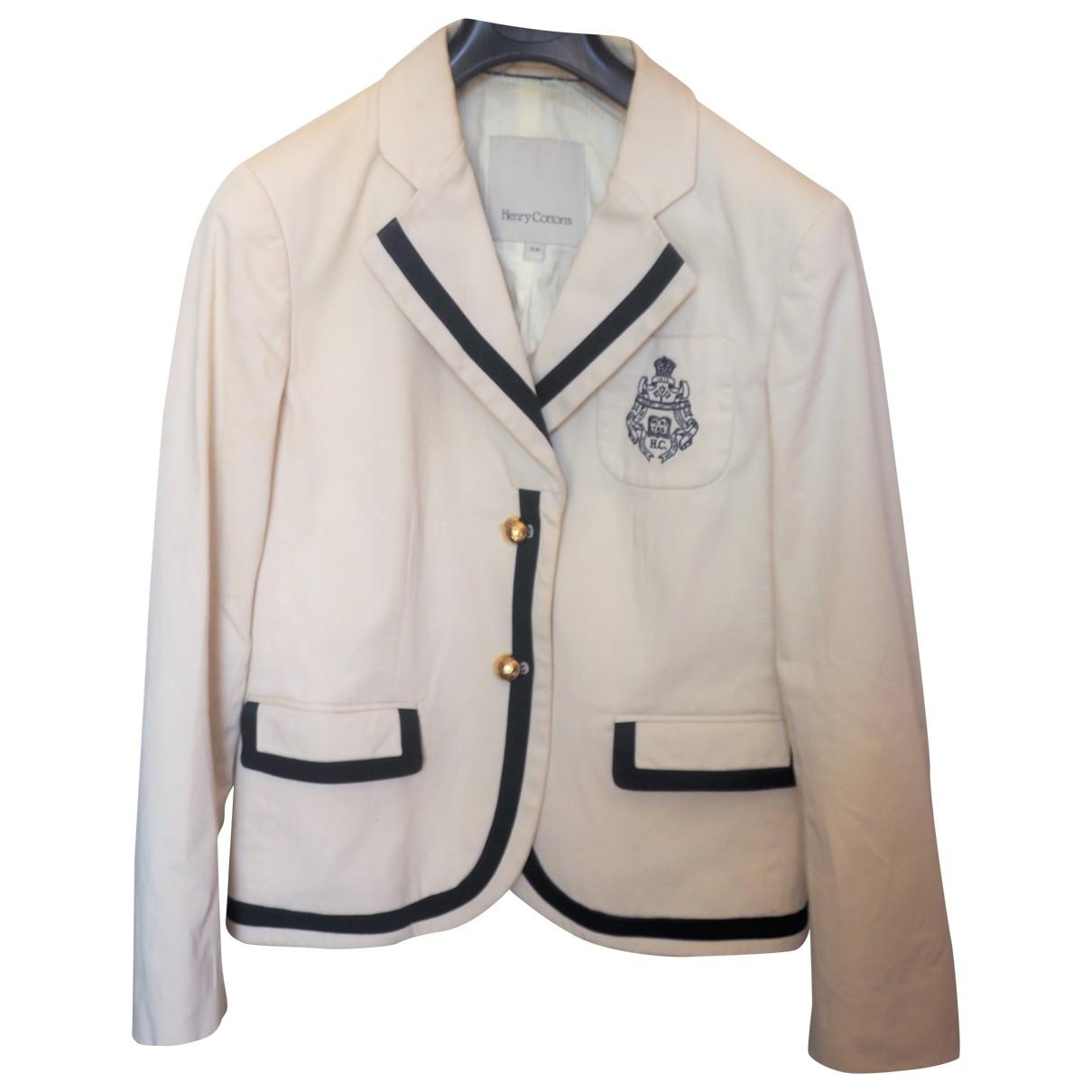 Henry Cotton - Veste   pour femme en coton - blanc