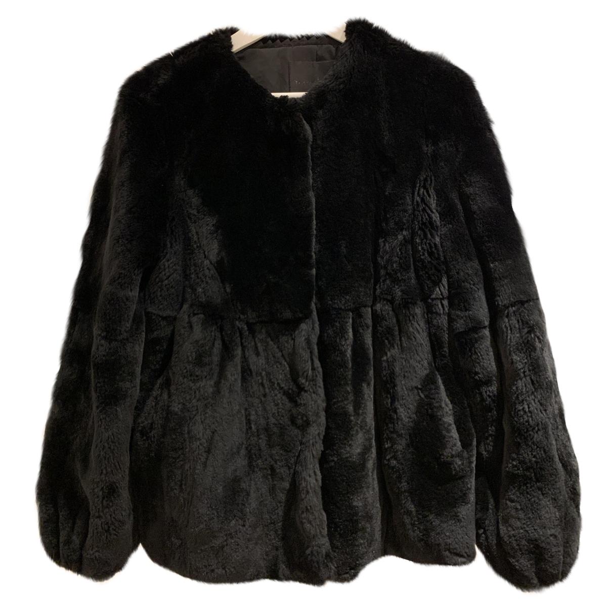 - Veste   pour femme en lapin - noir
