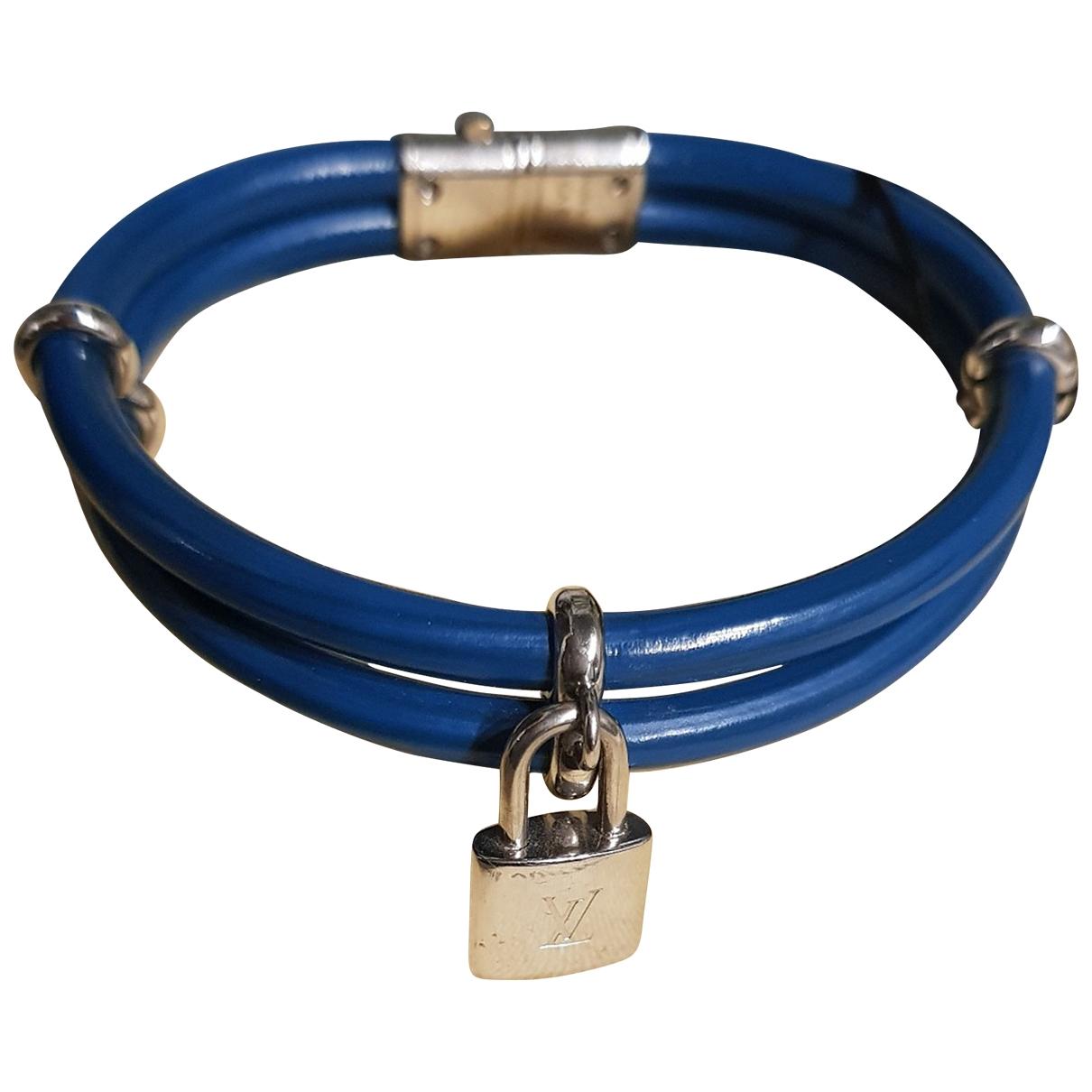 Louis Vuitton Lockit Armband in  Blau Leder