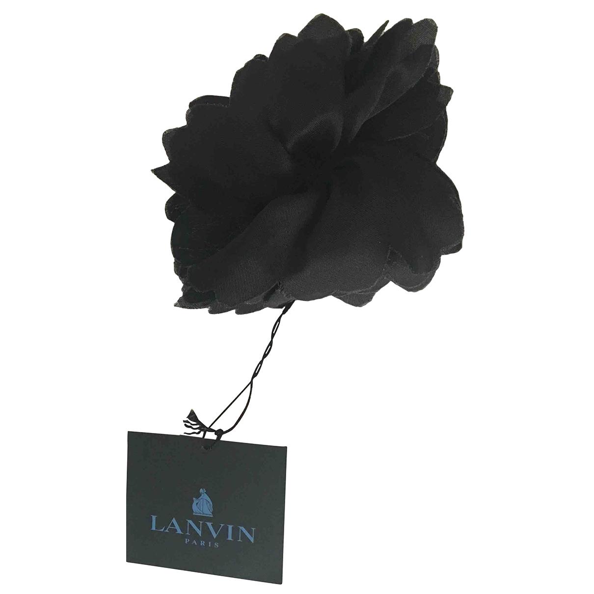 Lanvin \N Haarschmuck in  Schwarz Seide