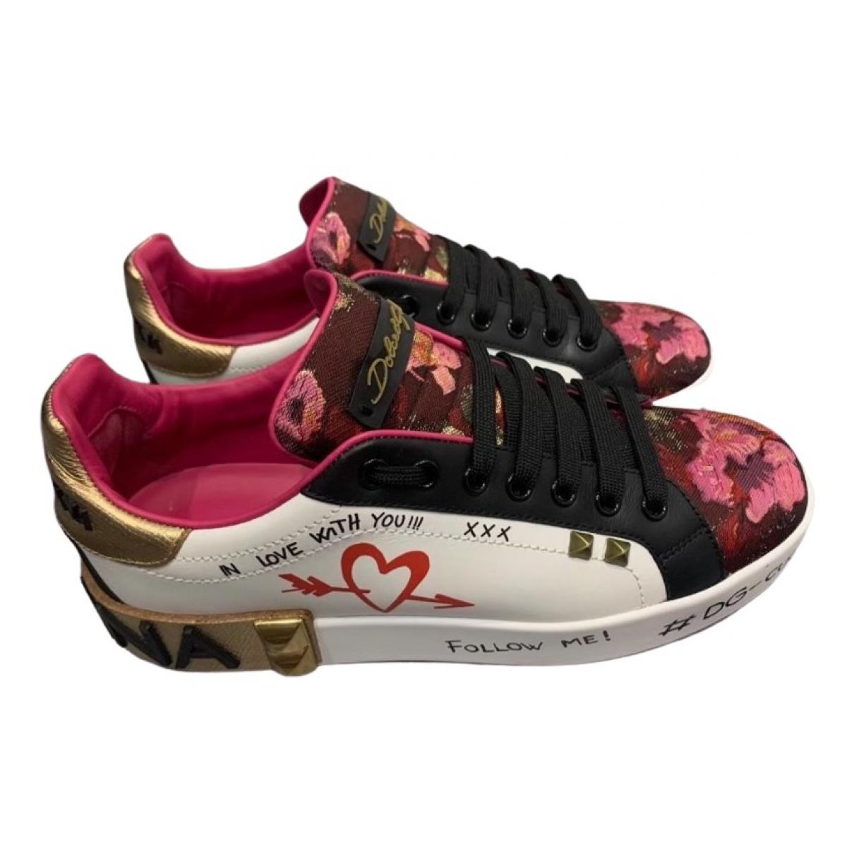 Dolce & Gabbana - Baskets Portofino pour femme en cuir - multicolore