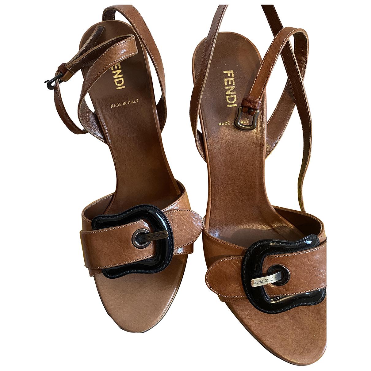 Fendi \N Leather Sandals for Women 39 IT