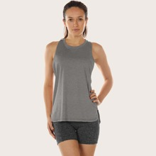 Racer Back Low Armhole Sports Tee Without Bra