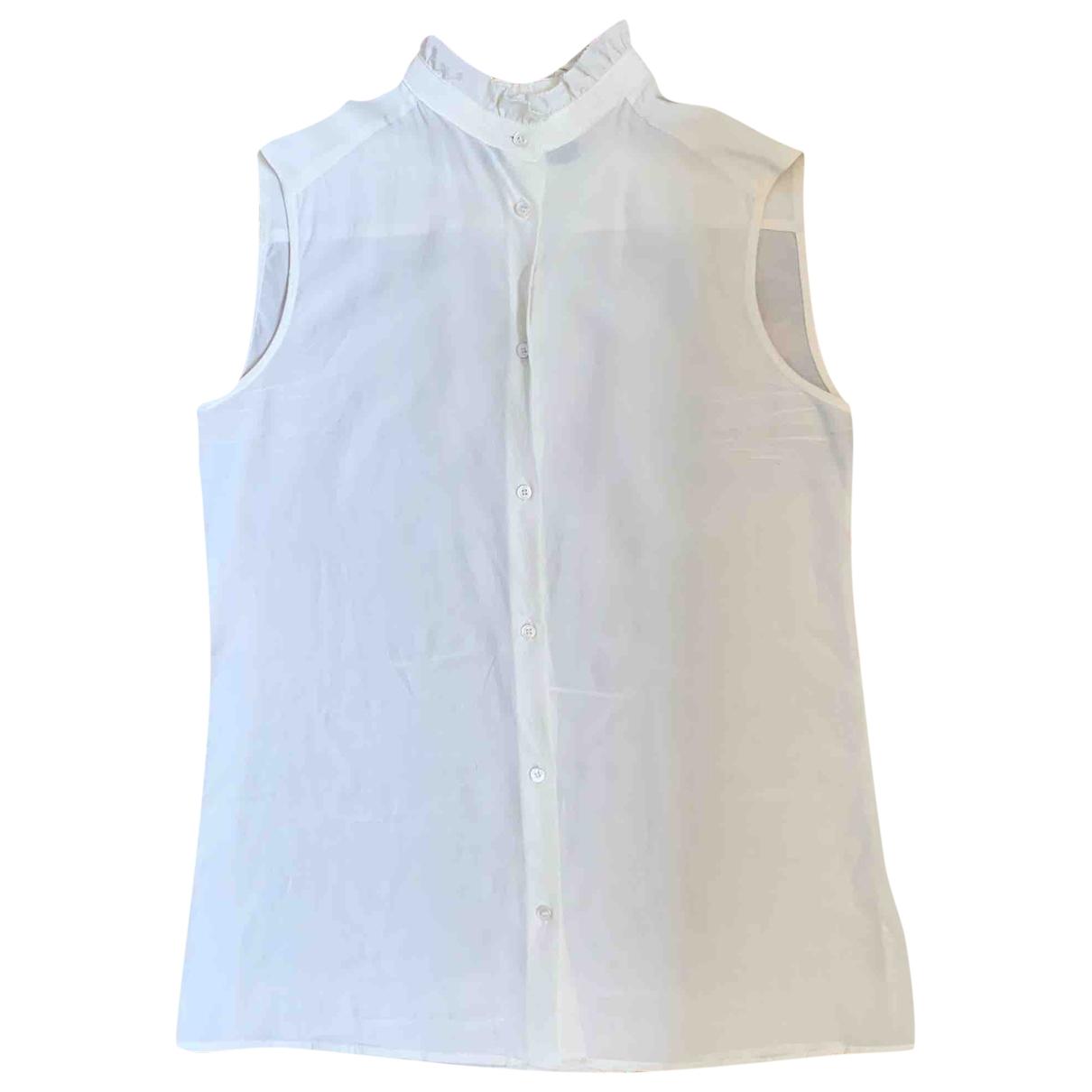 Max Mara Weekend - Top   pour femme en soie - blanc