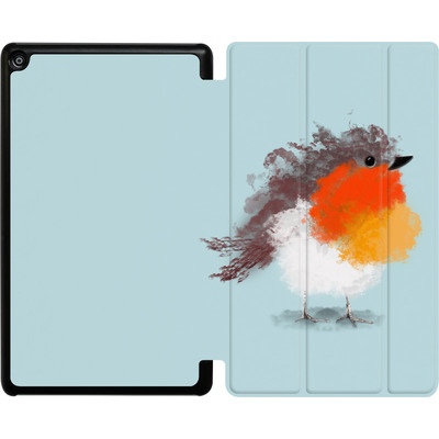 Amazon Fire HD 8 (2017) Tablet Smart Case - Cloudy Robin von caseable Designs
