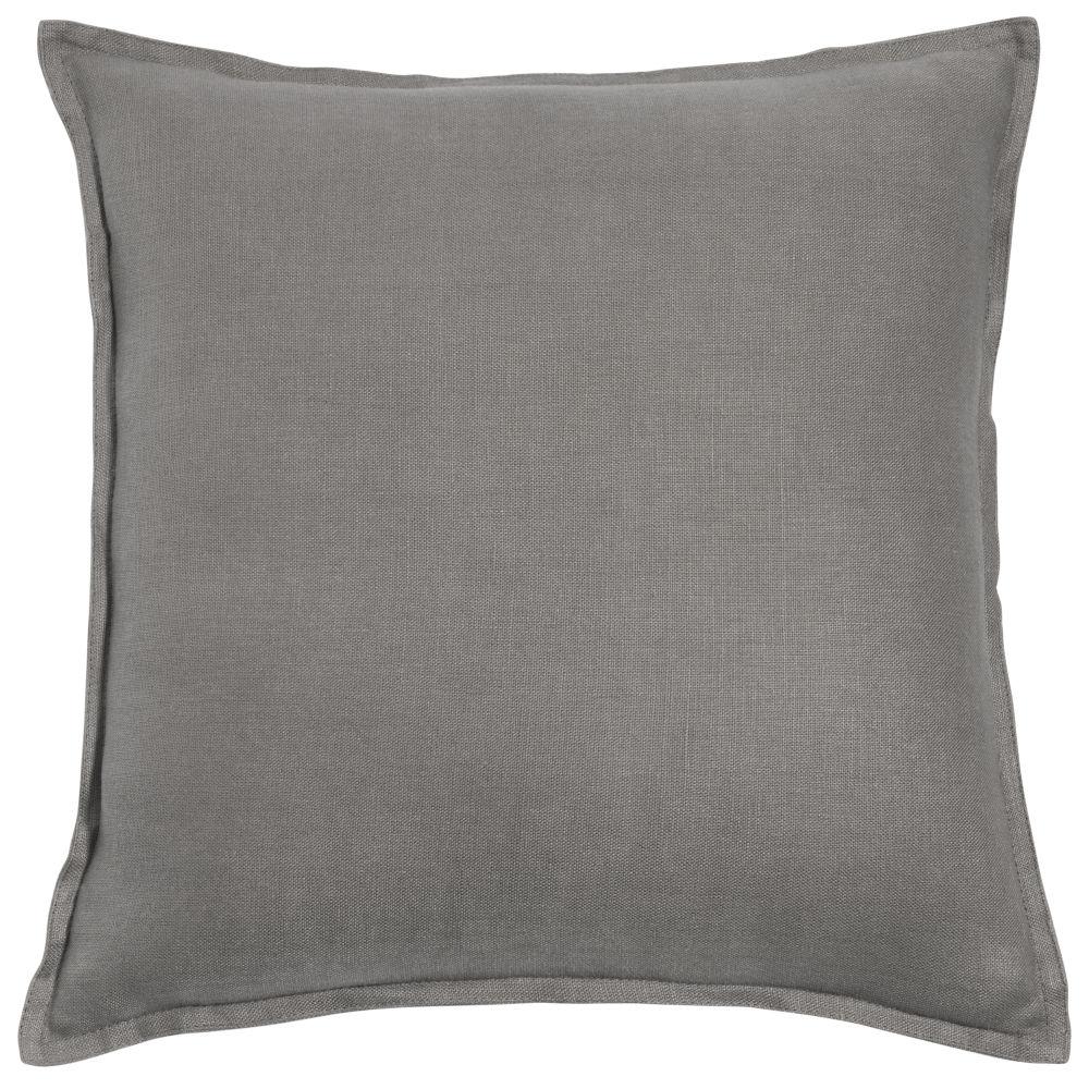 Kissen aus grobem Leinen, grau, 60x60