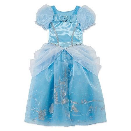 Disney Collection Cinderella Girls Costume, 9-10 , Blue