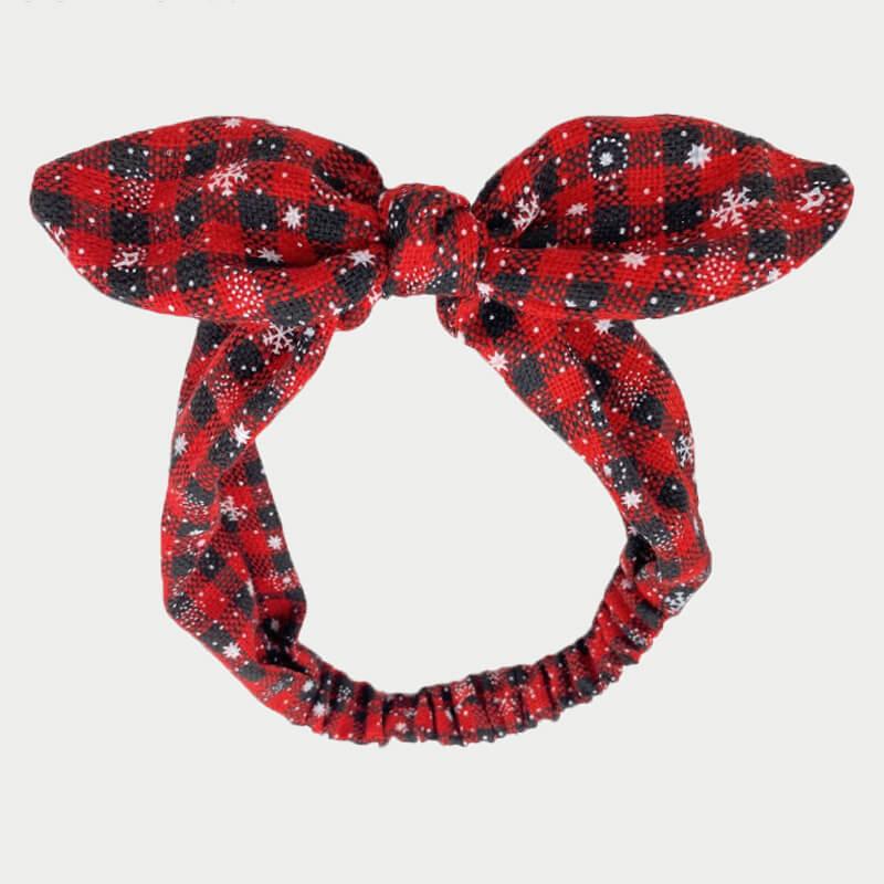 LW Lovely Grid Print Red Headband