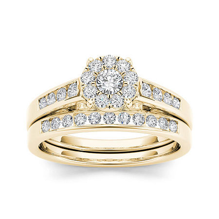 1/2 CT. T.W. Diamond 10K Yellow Gold Bridal Ring Set, 7 1/2 , No Color Family