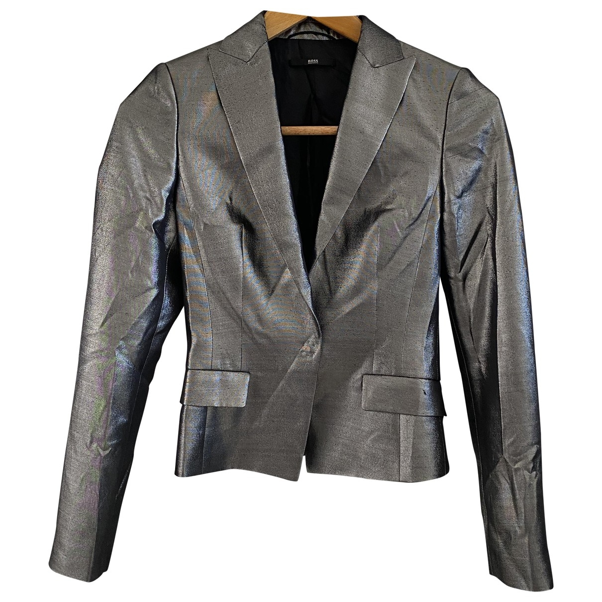 Boss \N Grey Silk jacket for Women 36 IT