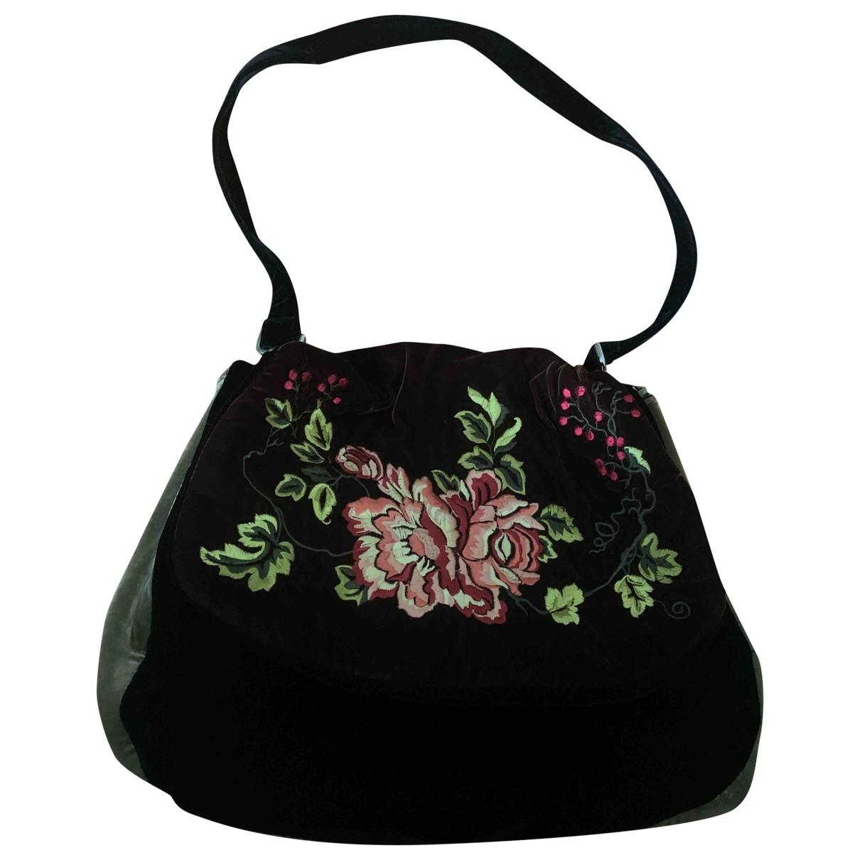 Non Signé / Unsigned \N Brown Velvet handbag for Women \N