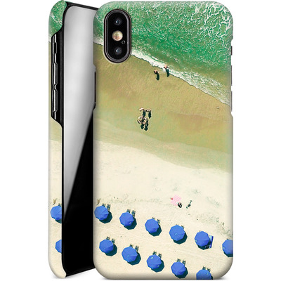 Apple iPhone XS Smartphone Huelle - Beach Umbrellas von Joy StClaire