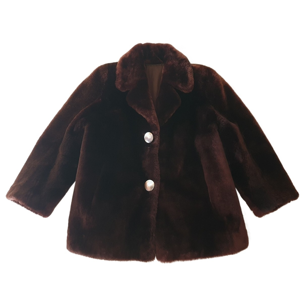 Non Signé / Unsigned \N Brown Faux fur jacket for Women M International