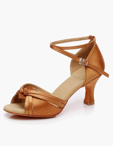 Milanoo Open Toe Low Heel Ballroom Shoes