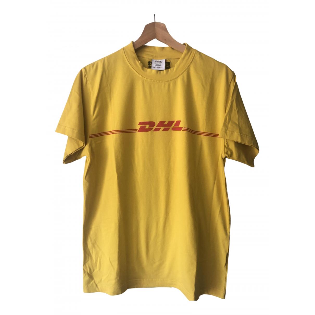 Vetements - Tee shirts   pour homme en coton - jaune