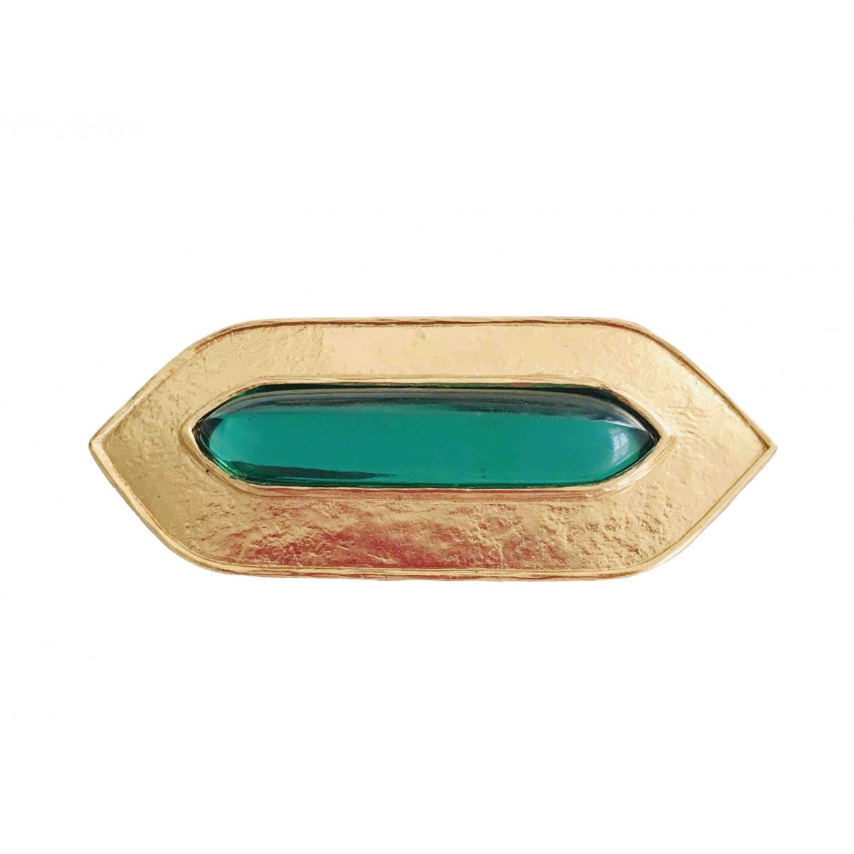 Jean-louis Scherrer \N Brosche in  Gold Metall