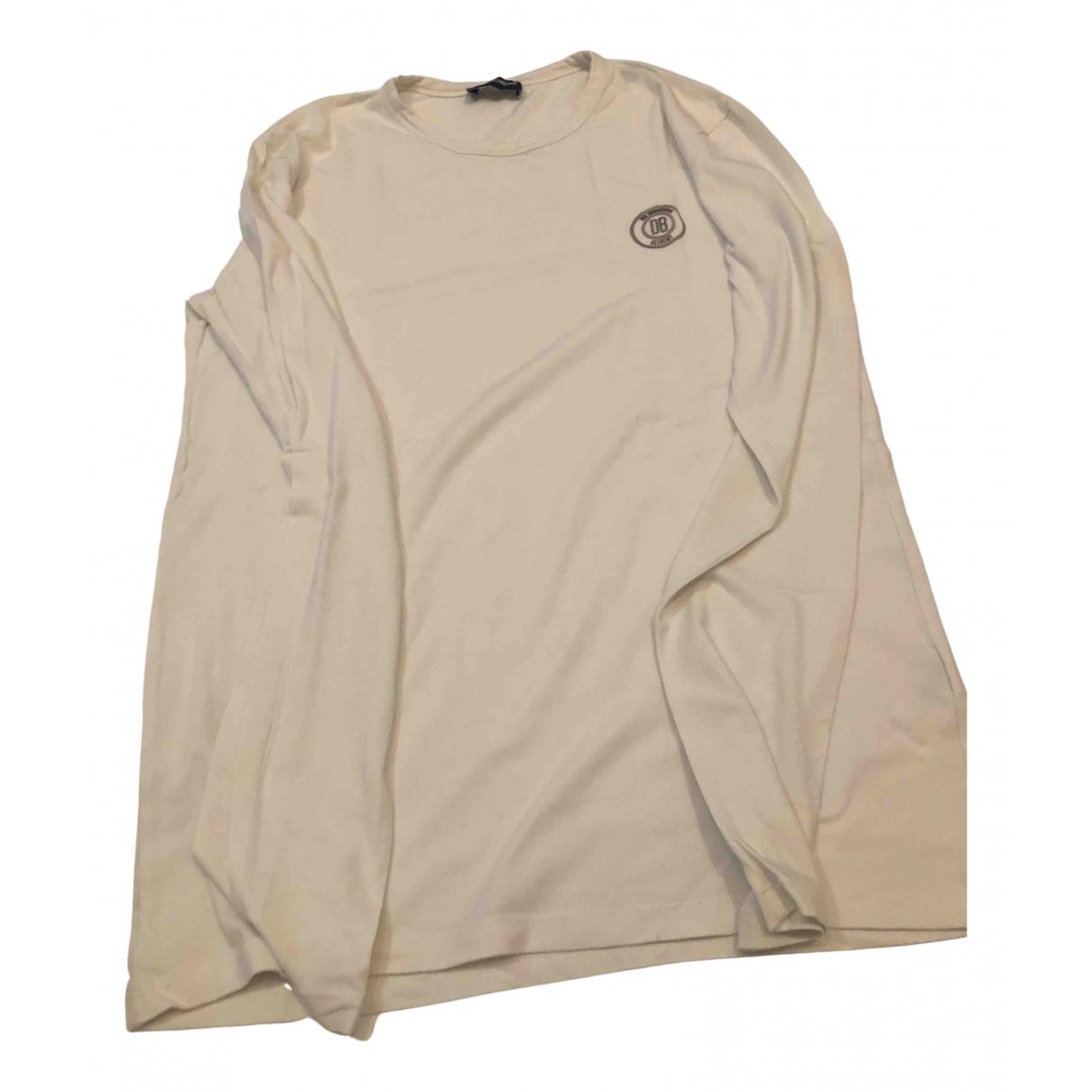 Dirk Bikkembergs - Tee shirts   pour homme en coton - blanc