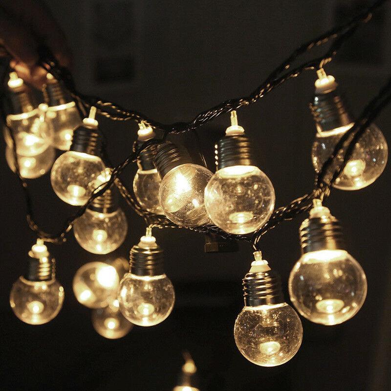 10M 2 Modes 80LED Bubble Ball Solar Fairy String Light Outdoor Indoor Garden Party Christmas Lamp