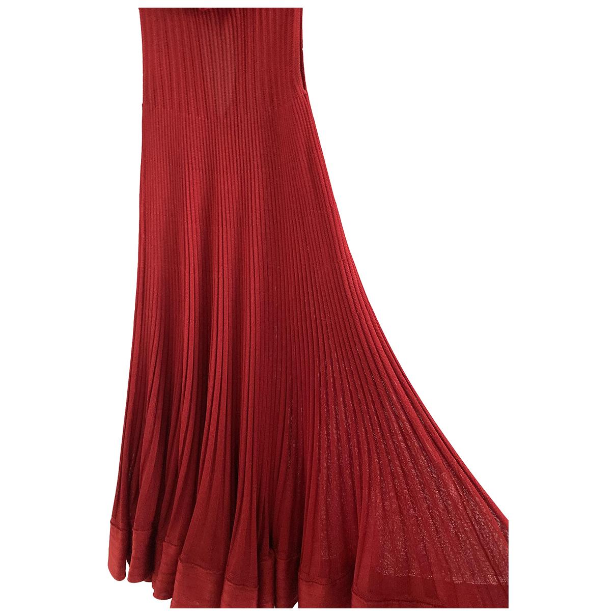 Stefanel \N Kleid in  Rot Viskose