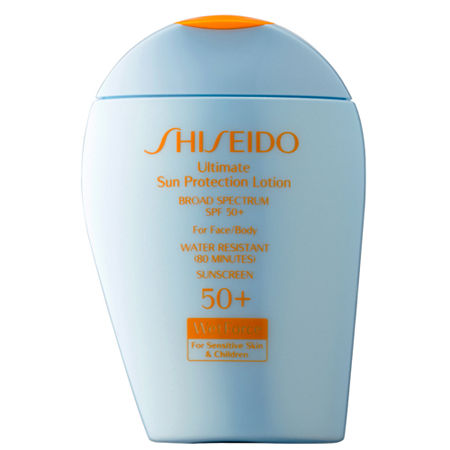 Shiseido Ultimate Sun Protection Lotion Broad Spectrum SPF 50+ WetForce for Sensitive Skin & Children, One Size , No Color Family
