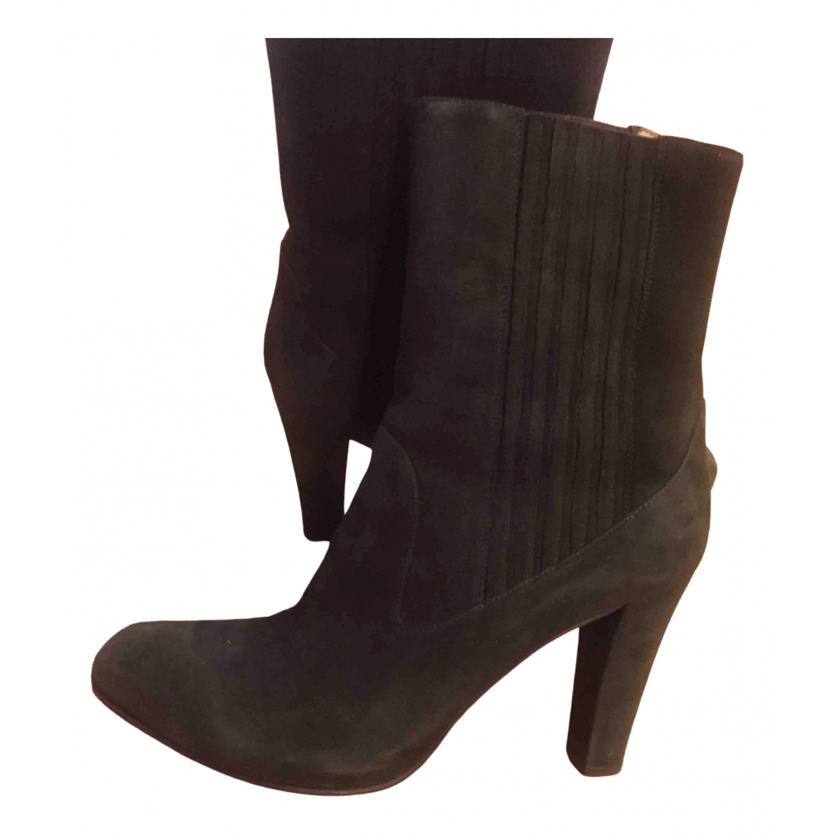Fratelli Rossetti N Green Suede Ankle boots for Women 40 EU
