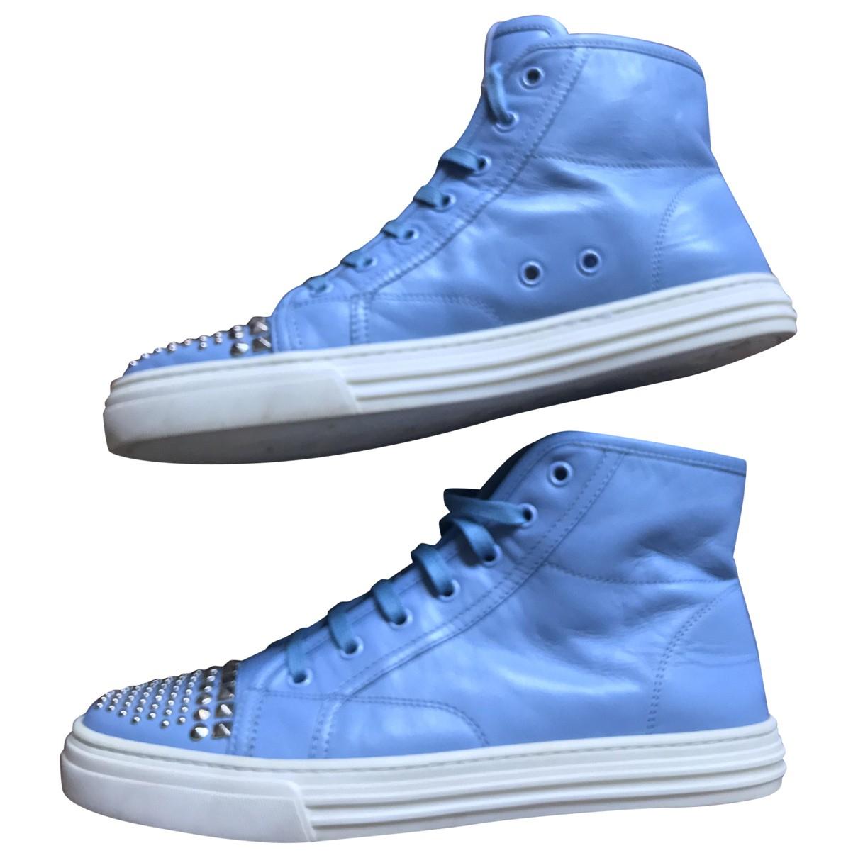 Gucci \N Sneakers in  Blau Leder