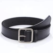Cinturon de hombres con hebilla metalica