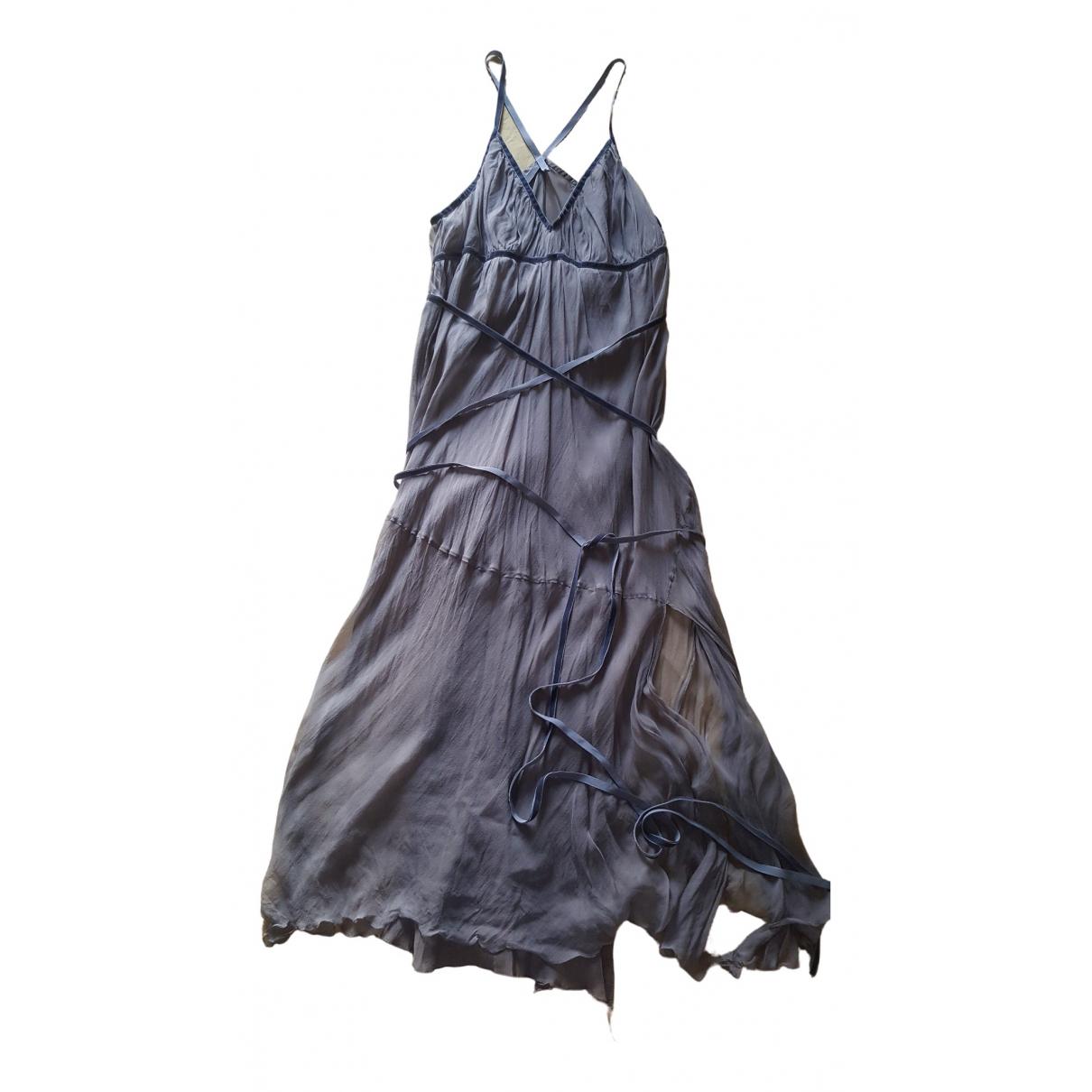 Philosophy Di Alberta Ferretti \N Grey Silk dress for Women 42 IT