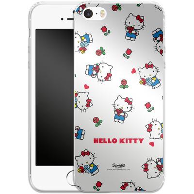Apple iPhone 5 Silikon Handyhuelle - Hello Kitty Flower Pattern von Hello Kitty