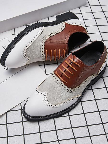 Milanoo Zapatos de vestir Oxford Color Block para hombres para ocasiones formales