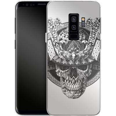 Samsung Galaxy S9 Plus Silikon Handyhuelle - Samurai Skull von BIOWORKZ