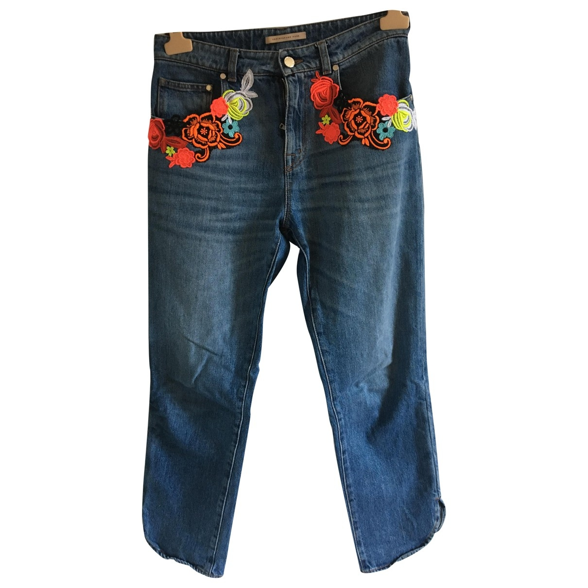 Christopher Kane \N Blue Cotton Jeans for Women 27 US