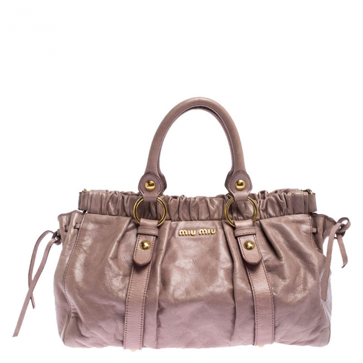 Miu Miu Bow bag Pink Leather handbag for Women \N
