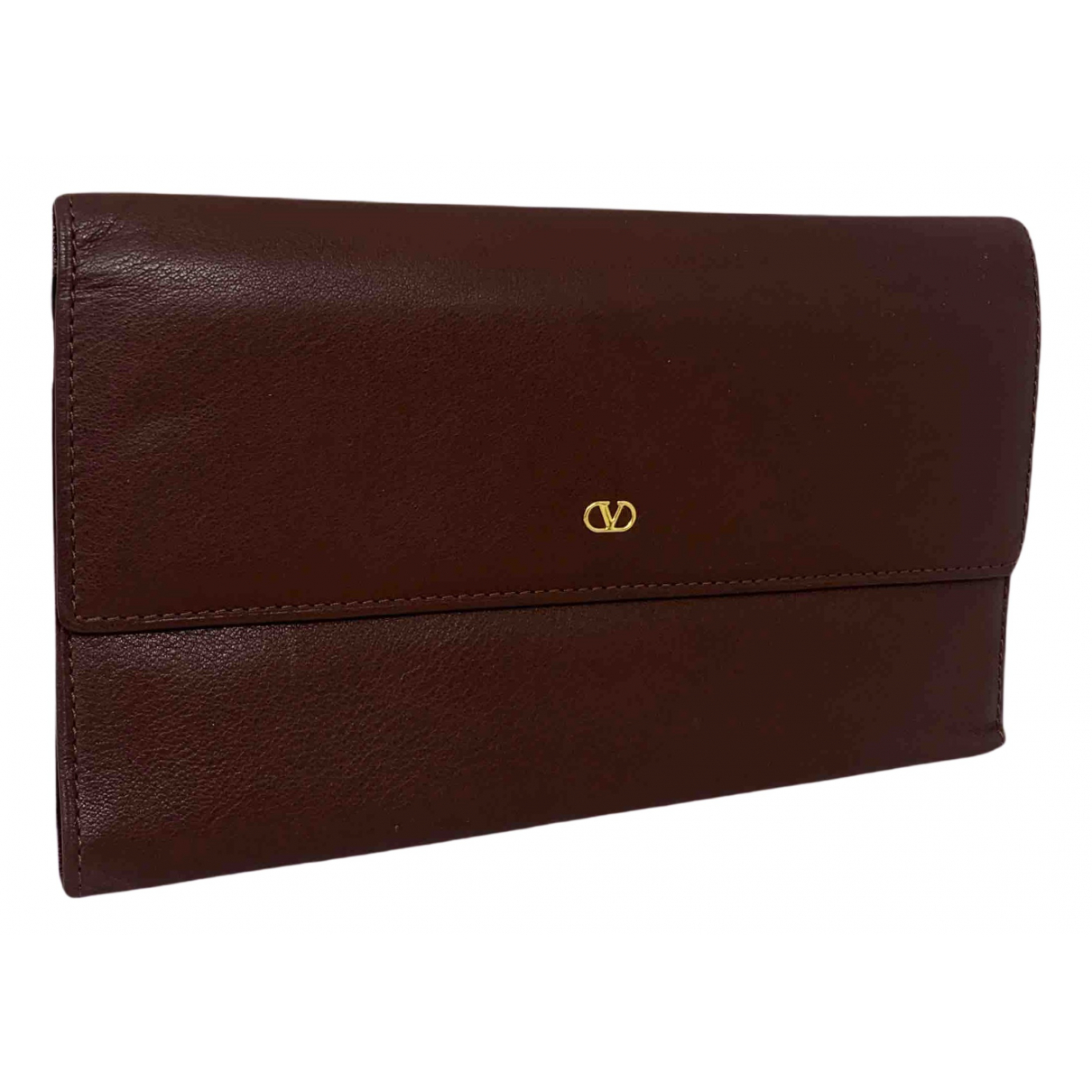 Valentino Garavani N Brown Leather wallet for Women N