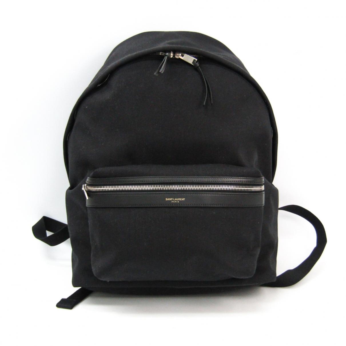 Saint Laurent \N Black Cloth backpack for Women \N