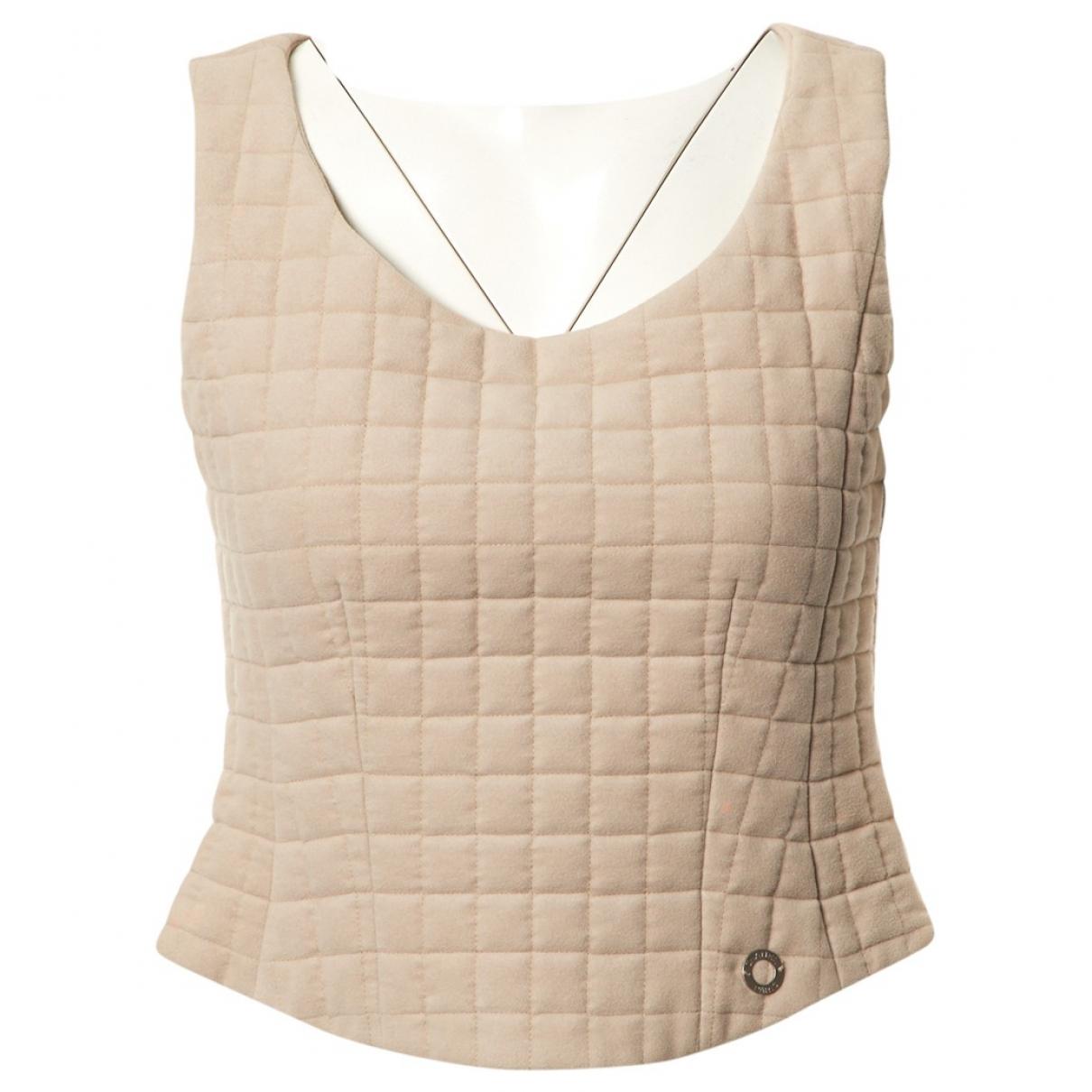 Chanel - Top   pour femme en coton - beige